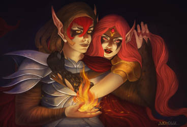 Elven Flame - Redrawn by Nidhogge