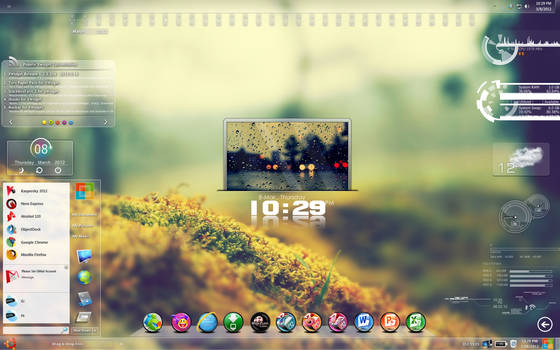 My DeskTop With Rainmeter and Xwidget by PhysX4