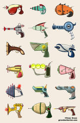 Ray Guns by greenbarbarian