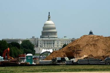 Capitol Under Construction by LovingInTheLongGrass