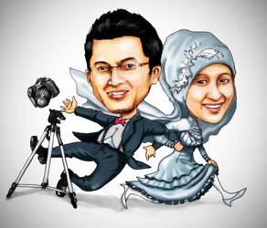 karikatur pernikahan ika rafi by alfinkahar