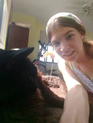 Trying to get a selfie with my cat  by Blaria95