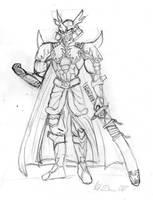 Tactimon-Tactic samurai by Danitheangeldevil
