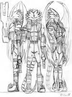 3 Beelzemons by Danitheangeldevil