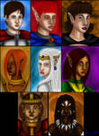 Baldur's Gate Female Bhaalspawn portraits by Danitheangeldevil