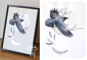Spirit Path - Crow [Sold] by giz-art