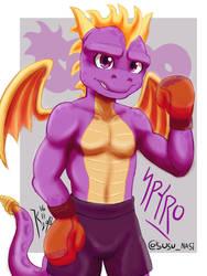 boxer Spyro by Kanamichi-Kun