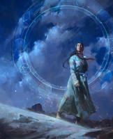 A Star-Reckoner's Lot - Book Cover Illustration by JADillo