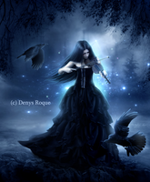 gothic violin II by DenysDigitalArtwork