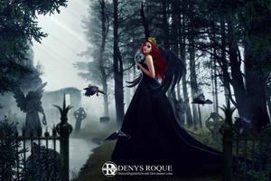 Lady Raven by DenysDigitalArtwork