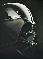 Vader (completed) 18x24 acrylic commission  by TheJennaBrown