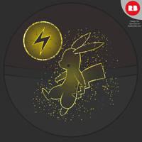 Pokeball Line Art Pikachu by Skaterblog