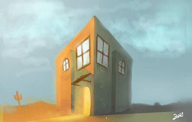 house in wasted land by mafay