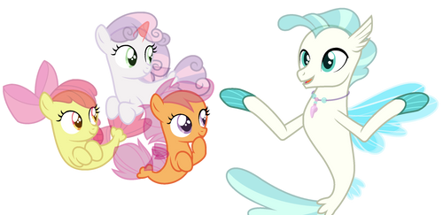 Mlp Seapony Cutie Marks Crusaders And Terremar by lorenacarrizo18