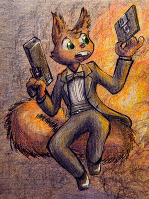 Secret Squirrel and Explosion by madcomputerscientist