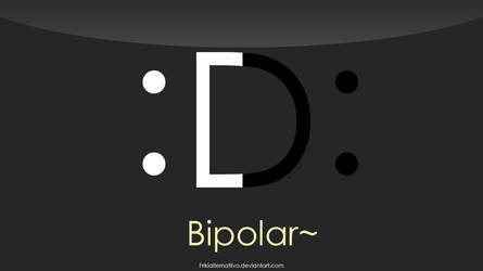 Bipolar emoticon 1366x768 HD by Frikialternatiivo