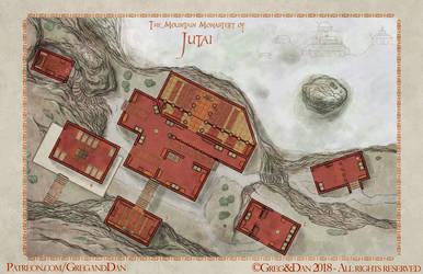 The Mountain Monstery of Jutai by Tangaboa