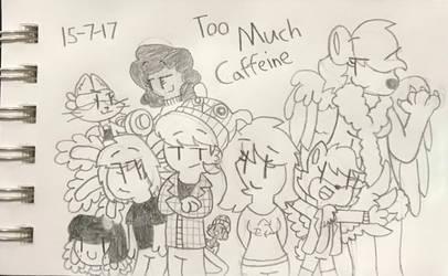 Sketchbook Pg. 39 - Too Much Caffeine by Phonx13