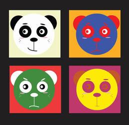 Pop Art Roy The Panda by AceZeroX
