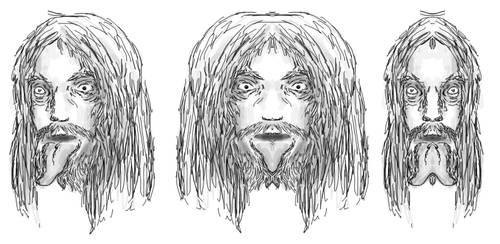 Portrait d'artiste sous les traits d'un vieux fou by Stalacyn