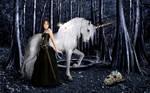 Iris and the Unicorn by Quazbut