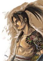 Tattooed Samurai col concept by chibi-j