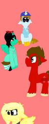 Wreck-it Ralph Ponies by vanceduke