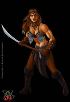 Commission Barbarian Woman by LRCommissions