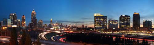 Atlanta Skyline Panorama 2012 by fusk4