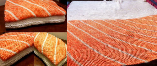 Salmon Sushi blanket by DarkLyghtning