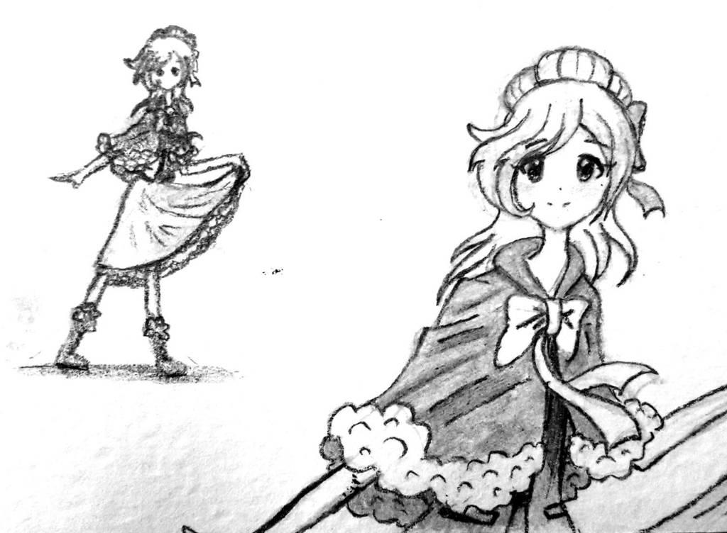 Tetra-san, pencil art by SimsValeria