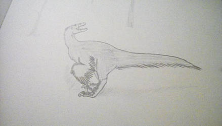 Unfinished raptor by TheCrowAtMidnight