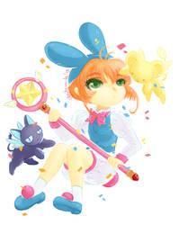 Sakura bunny! by Lucia-Conchita