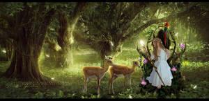 : Elven Queen : by VanessaPadua