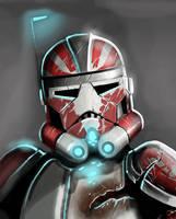 Concept clone Helmet detail by VoodooHeartsCircus