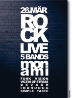 Flyer for ROCK-Party by MuDDseR