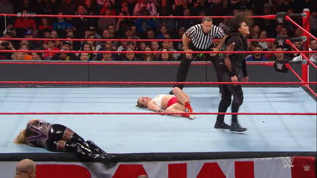 Ronda Rousey Unconscious 1 (Raw 12/31/2018) by ryko88
