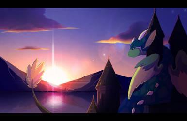 Sunset by ClockworkSheep