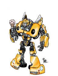 Bumblebee likes icecream by Oi1Bob