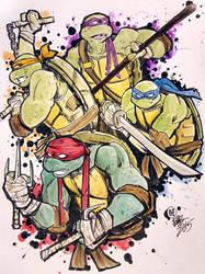 Mean Green Ninja Team  by Oi1Bob