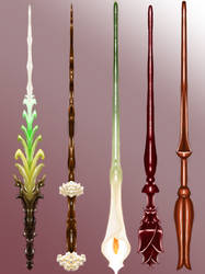Wand Concept Design: Floral Collection by moptop4000