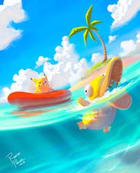 Pokemon Beach! by superpascoal