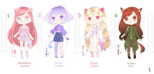 Kemonomimi Adoptables OPEN by NophieB