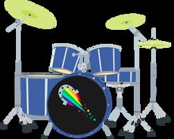 MLP EG - Pinkie Pie Drums - Vector by MLPCreativeLab