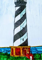 Cape Hatteras  Lighthouse, NC by scrappinpatw