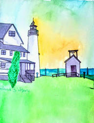 Cove Point Lighthouse,  Maryland by scrappinpatw