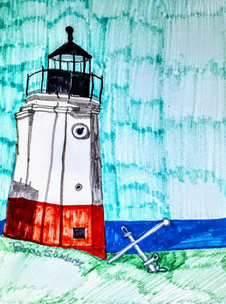 Erie Lighthouse  by scrappinpatw