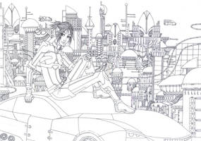 Meridiam city LINEART by Meerclar