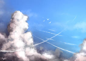Clouds study by Meerclar
