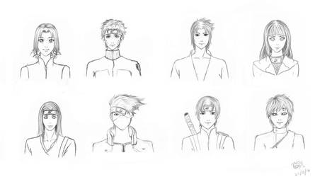 Naruto lineart by AnathelaRen